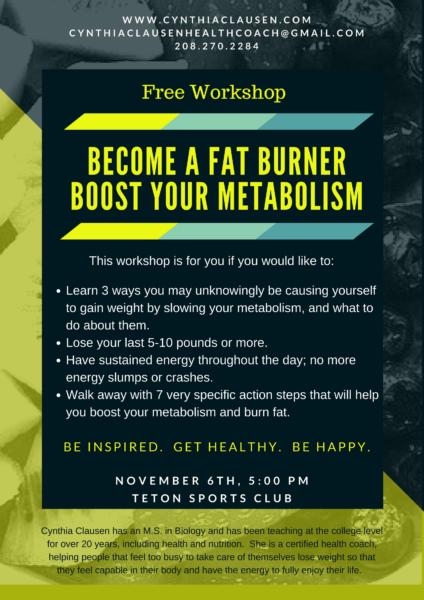 Teton Sports Club - Become a Fat Burner November